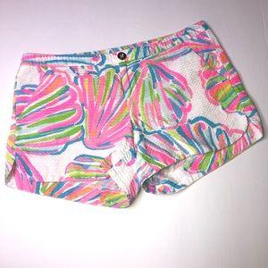 Lilly Pulitzer Adie Shellebrate shorts size 0